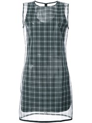 Helmut Lang Checked Printed Dress Black