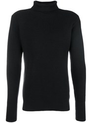 Barena Ribbed Roll Neck Sweater Blue