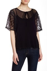 Weston Wear Moonflower Tassle Blouse Black