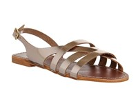 Office Bamboo Strappy Sandals Gold