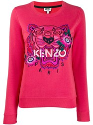 Kenzo Tiger Embroidered Sweatshirt Pink