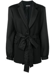 House Of Holland Waist Tied Fitted Blazer Black