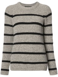 Jenni Kayne Striped Jumper Brown
