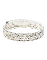 Anne Klein Silvertone Multi Strand Bangle