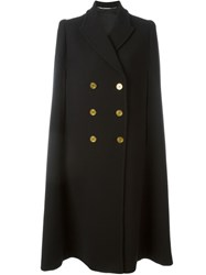 Alexander Mcqueen Double Breasted Cape Black