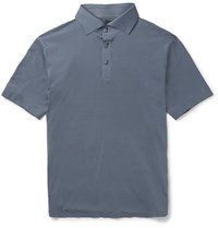 Descente S.I.O. Slim Fit Stretch Jersey Polo Shirt Gray