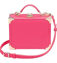 Aspinal Of London Trunk Clutch Bag Pink