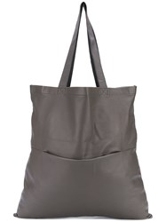 Rick Owens Classic Shopping Tote Brown