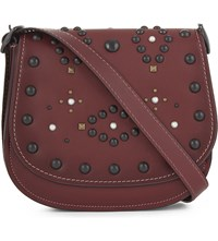 Coach 1941 Western Rivet 23 Leather Saddle Bag Bp Bordeux