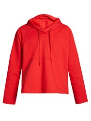 Balenciaga Bell Fit Hooded Sweatshirt Red