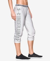 Under Armour Favorite Fleece Capri Pants White
