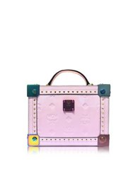 Mcm Berlin Prism Pink Patent Leather Small Crossbody