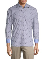 Bertigo Cotton Sneaker Print Shirt Blue