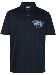 Gieves And Hawkes Logo Polo Shirt Blue