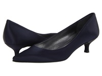 Stuart Weitzman Bridal And Evening Collection Poco Navy Satin Women's 1 2 Inch Heel Shoes