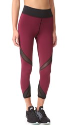 Michi Radiate Crop Leggings Shiraz Black