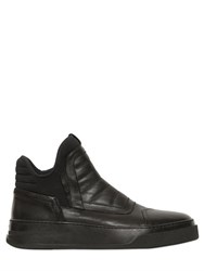 Bruno Bordese Leather And Neoprene High Top Sneakers