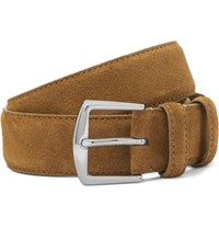 Loro Piana 4Cm Tan Suede Belt Tan
