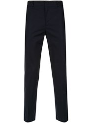 Egrey Skinny Tailored Trousers Blue