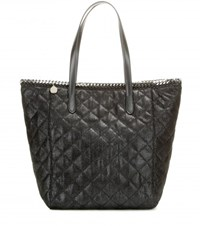 Stella Mccartney Shaggy Deer Quilted Shopper Black