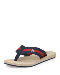 Penguin Poolside Slip On Thong Sandal Dress Blue Oxford