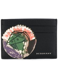 Burberry 'Pallas Heads 1973' Printed Card Holder Men Cotton Leather One Size Black