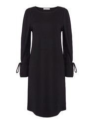 Oui Dress With Sleeve Ties Black