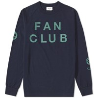 Wood Wood Long Sleeve Han Fan Club Tee Blue