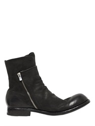 Officine Creative Zip Up And Elastic Leather Boots