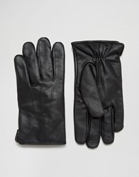 French Connection Leather Gloves Black