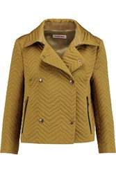 See By Chloe Quilted Faille Jacket Brown