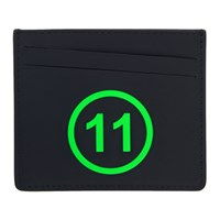 Maison Martin Margiela Black And Green '11' Card Holder