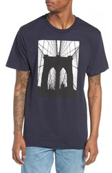 Casual Industrees Brooklyn Bridge Graphic T Shirt Navy