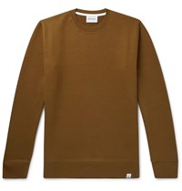 Norse Projects Vagn Loopback Cotton Jersey Sweatshirt Neutrals
