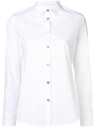 Paul Smith Ps Multicoloured Button Shirt White