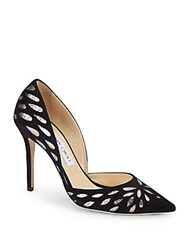 Jimmy Choo Glitter Leather Pumps Black Multi