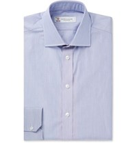 Turnbull And Asser Navy Slim Fit Striped Cotton Shirt Navy