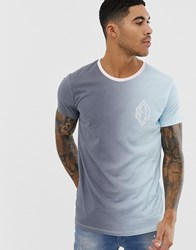 Religion T Shirt In Blue Fade