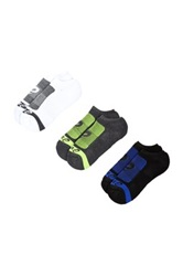 Asics Contend No Show Socks Pack Of 3 Multi