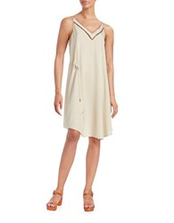 Free People All I Want Embellished Shift Dress Cream