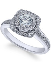 X3 Certified Diamond Engagement Ring 1 Ct. T.W. In 18K White Gold Only At Macy's