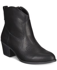 Style And Co Mandyy Western Booties Only At Macy's Women's Shoes Black