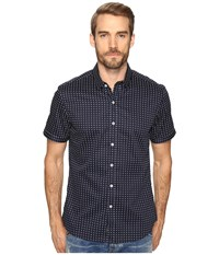 7 Diamonds Midnight City Short Sleeve Shirt Navy Men's Short Sleeve Button Up