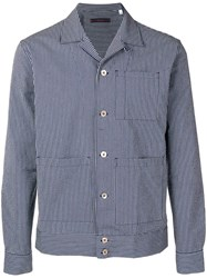 The Gigi Striped Slim Fit Jacket Blue