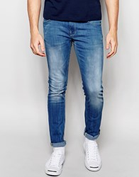 Blend Of America Blend Cirrus Skinny Jeans In Stretch Mid Clear Blue Clearblue