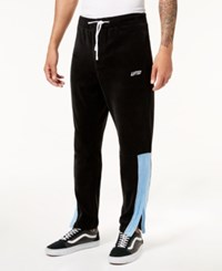 Lrg Men's Lifted Velour Track Pants Black