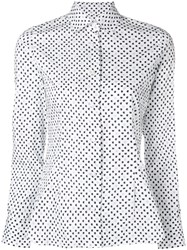 Barba Polka Dot Shirt White