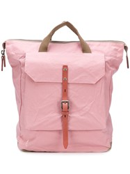 Ally Capellino Front Patch Pocket Backpack Pink And Purple