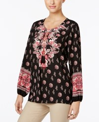 Jm Collection Floral Paisley Print Tunic Only At Macy's Beaut Placement