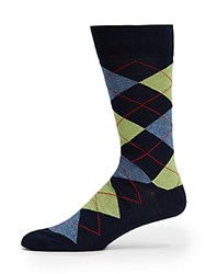 Saks Fifth Avenue Cotton Blend Mid Calf Socks Lime